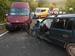 Közúti baleset Etes és Ságújfalu között