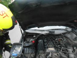 Visszahűtés után hőkamerával is átvizsgálták a motorteret