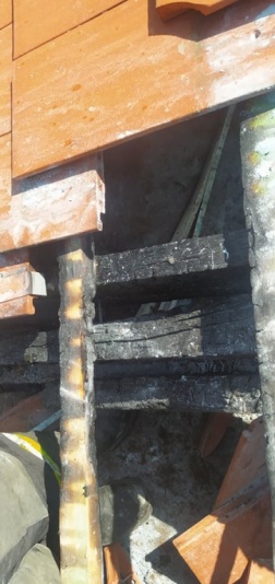 A megrongálódott tető