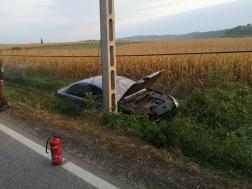 Közúti baleset Acsa és Csővár között