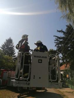 Tűzoltók a kosárban