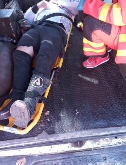 A sérült az ÖTE terepjárójában
