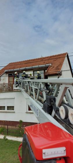 Létraszer segítségével hozták le a sérültet a tűzoltók