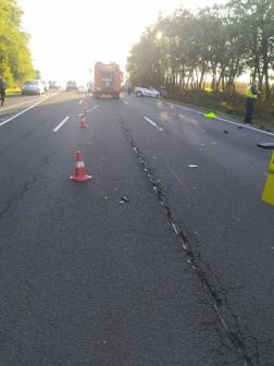 Közúti baleset a 2-es úton Rétság közelében