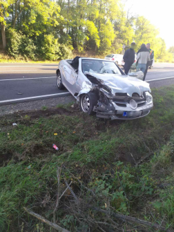 A balesetben érintett személyautó
