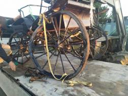 A balesetben érintett lovaskocsi