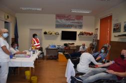 Az állományból többen is adtak vért.