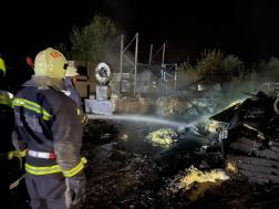 A tüzet négy vízsugárral oltották el