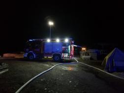 A káresethez harminc tűzoltó vonult nyolc járművel